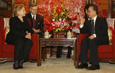 Tension builds in Asia as Clinton seeks peace talks with Chinese Hierarchy