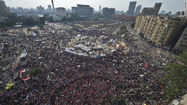 Millions march in Egypt, as largest protest in history unfolds