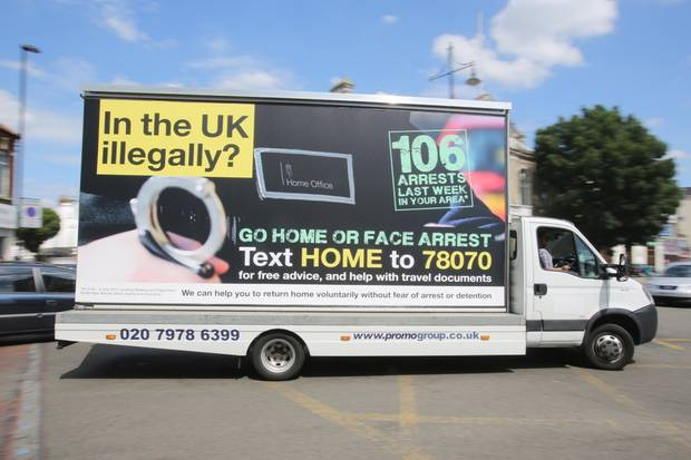 Nastier than UKIP: Home Office's campaign to urge illegal immigrants to go home