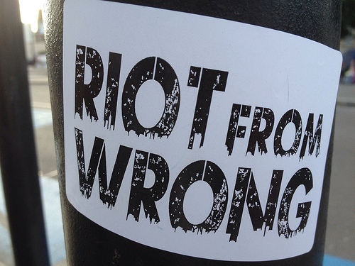 Riot from Wrong presented by the Spitz and Fully Focused: