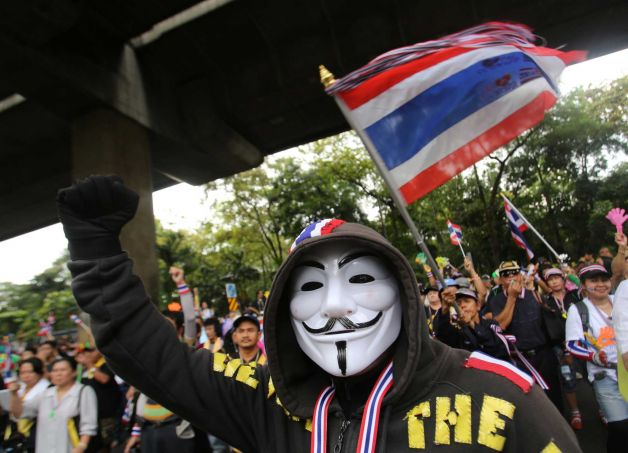 Anti-government Protests are underway in Thailand