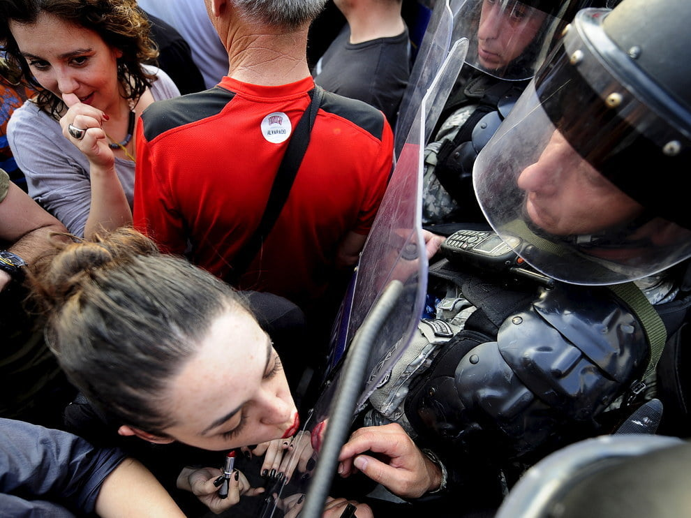 Protests and Lipstick: A response to the phone-tapping scandal in Macedonia