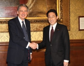 Hammond_meets_Minister_for_Foreign_Affairs_of_Japan_Fumio_Kishida_January_2015