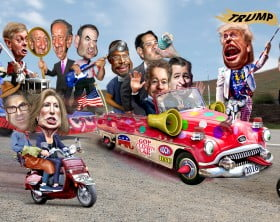2016_Republican_Clown_Car_Parade_-_Trump_Exta_Special_Edition_(18739683269)