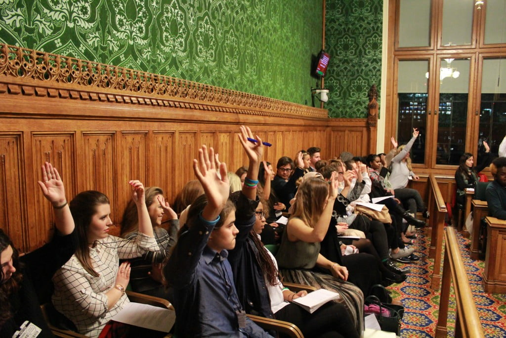Youngest Politicians in the UK gather In Parliament TO DISCUSS POLITICAL EDUCATION