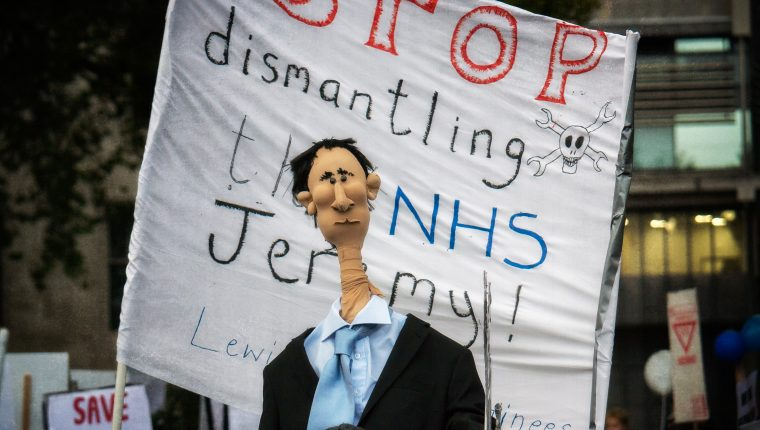 Photos taken at the London march in protest at the proposed contract for junior doctors.