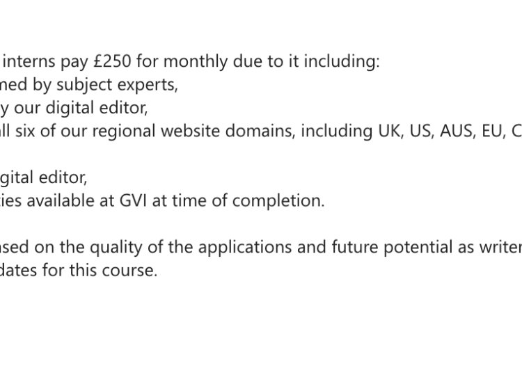 Pay us £1000 to be an intern - bring back the days of unpaid