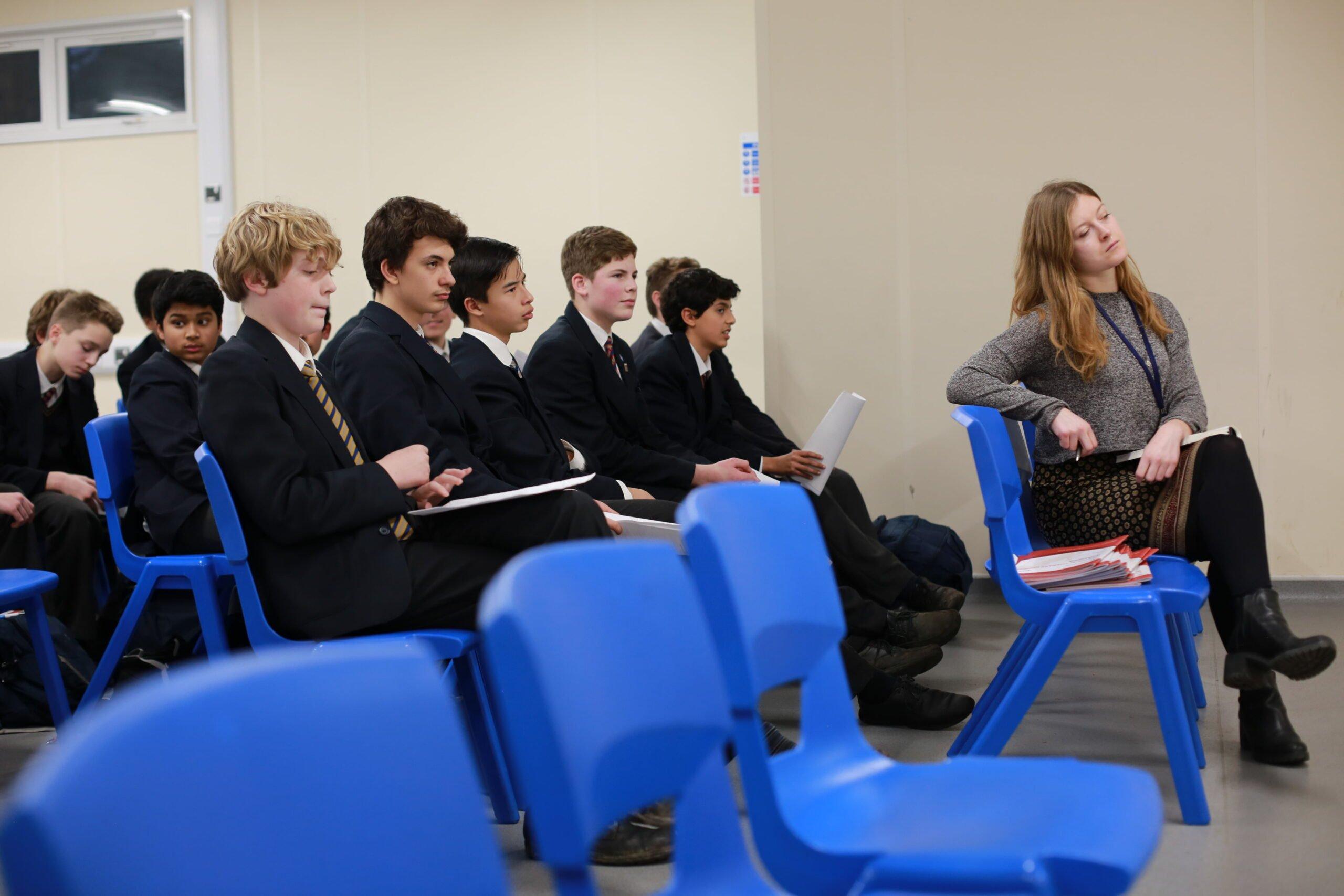 Marylebone boys' school students talk Feminism and Global Warming!