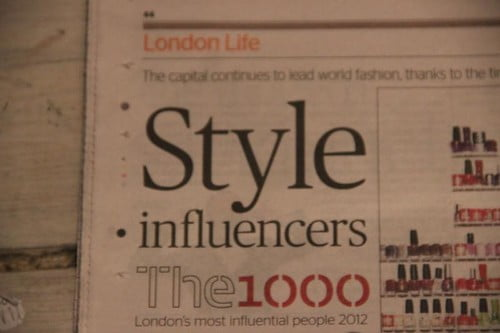 The 1000, London's most influential people 2012