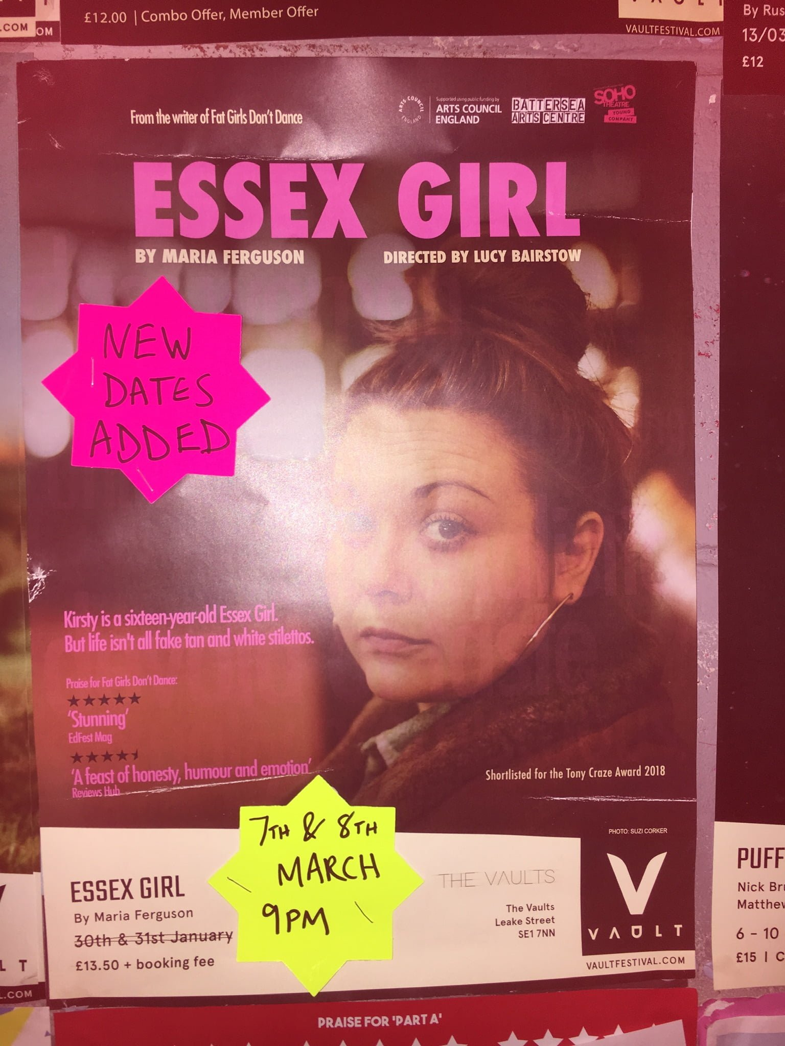 Vault Festival: Go See 'Essex Girl', you won't regret it
