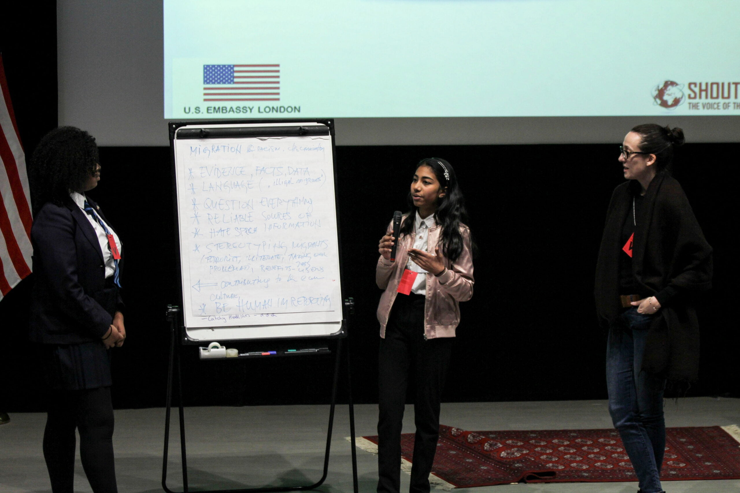 Shout Out UK and students dive deep into media literacy at U.S. Embassy London
