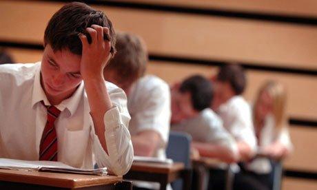 School pupils sit exams