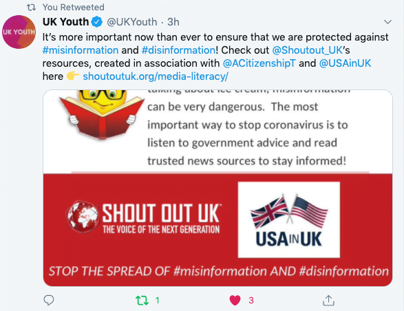 Misinformation & Covid19 with the US Embassy & The Times